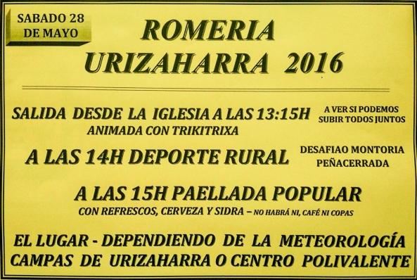 Romería Urizaharra 2016