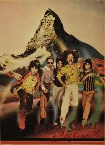 Cartel gira europea 1976